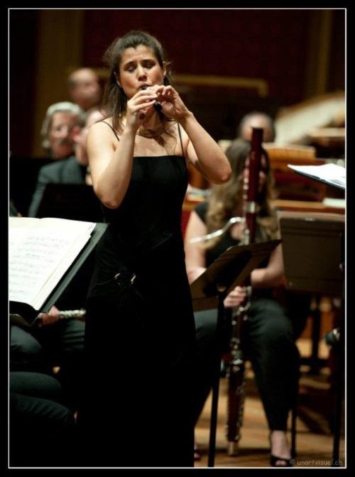 Tatiana Babut du Marès, flûtiste à bec - photo © Lionel Windels