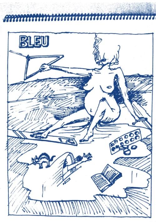Cie Bleu en haut bleu en bas - Bleu
